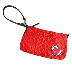New Jersey Devils NHL Quilted Wristlet (Light Red)