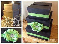 DIY Wedding Card Box SMALL Unfinished 3 tier card Box   Diy wedding ...