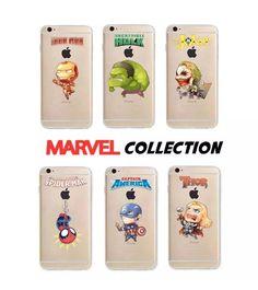 Incredibile mini Marvel baby COLLECTION, disponibile per tutti i modelli diiPhone e Samsung Galaxy. Realizzata su cover trasparente TPU