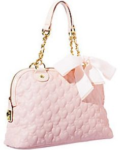 cdd7408369ed Pink quilted heart handbag Betsy Johnson Shoes