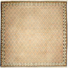 An Indian Dhurrie rug - Unusual among the Indian Dhurrie rugs in the Doris Leslie Blau collection, this example has a light brown field beneath a simple ...