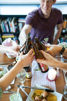 An All-American Beer Bottling Party  Gatherings from The Kitchn - with super awesome food!