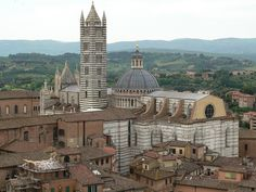 Another view of the Cathedral in Siena, Italy.  Pic is taken from on top of the Mangia Tower.