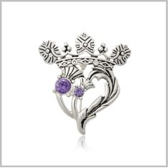 Scottish Jewelry - Luckenbooth Thistle Heart Necklace