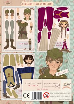 ON SALE New collection Robin Hood Paper toyKids' por Oxfordoll