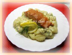 Gnocchi mit Dill - Senfsoße & lauwarmer Räucherlachs