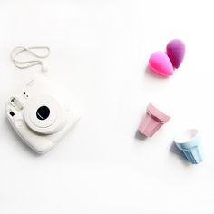 Perfect choice: Instax photocamera, Beauty Blender and pastel colors. Pastel Pink, Pastel Colors, Pink Blue, Beauty Blender Pink, Summer Set, Pastel Colours