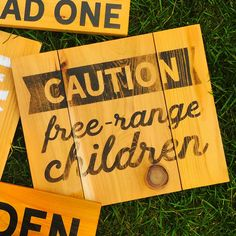 Hey, I found this really awesome Etsy listing at https://www.etsy.com/ca/listing/458544204/outdoor-treated-wooden-sign-caution-free