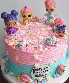Doll Birthday Cake, Funny Birthday Cakes, 6th Birthday Parties, Birthday Fun, Surprise Birthday, Birthday Ideas, Shopkins Birthday Cake, Lol Doll Cake, Doll Cakes