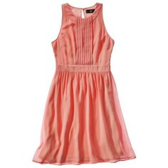 Mossimo® Women's Sleeveless Ring Neck Georgette Dress - Either Peach or Meteor Green (aka Mint)