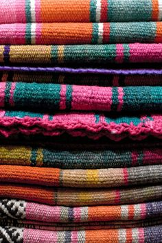 Vintage textiles from the north of Argentina, Peru and Bolivia. Works of art!