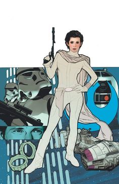 Star Wars - Princess Leia by Adam Hughes *