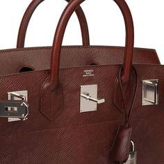 Hermes' New Epsom Leather - Volynka Russian Leather   PurseBop Lapsang Souchong, New Press, Bag Display, Kelly Bag, Natural Leather, Hermes Birkin, Tree Bark, Waiting