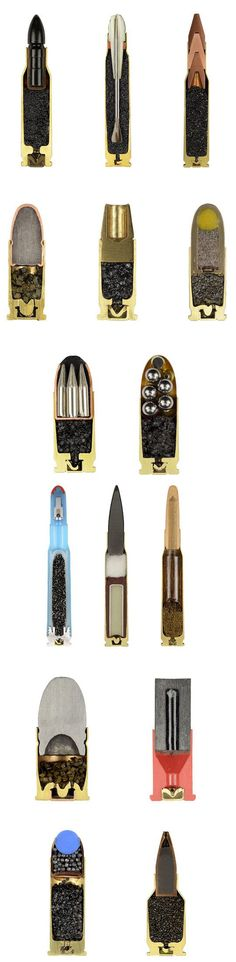 Bullets precisely split in half…: