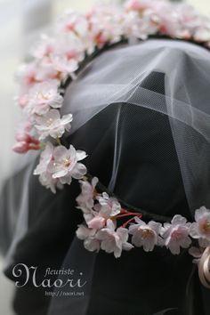 Cherry blossoms of crown / pink / wedding さくらの花冠 ピンク ウェディング 桜の花