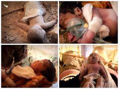 Gaza's murdered babies. So much shame on Zionist Israel.