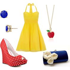 Princess themed outfits  Snow White 50's style?