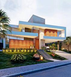 The Savoy Luxury Apartment Homes Villa Design, Facade Design, Exterior Design, Architecture Design, House Front Design, Modern House Design, Modern House Facades, Modern Houses, Luxury Homes Dream Houses