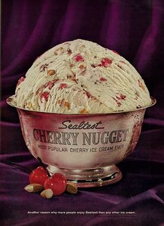 Sealtest Cherry Nugget Ice Cream ad from 1964. #vintage #1960s #food #ice_cream #ads