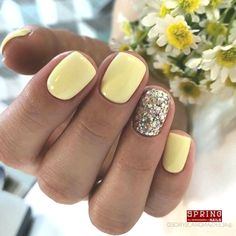 Manicure in the style of Feng Shui: How to correctly combine shades of lacquer? - Page 11 of Yellow Nails Design, Yellow Nail Art, Nail Art Designs, Winter Nail Designs, Summer Gel Nails, Winter Nails, Glitter Gel Nails, Acrylic Nails, Trendy Nails