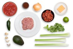 Turkey Chili with Avocado & Cheddar Cheese ingredients