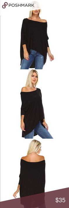 🦇 Batwing Blouses 🦇 Made of high quality, soft and stretchy 95% Rayon and 5% Spandex fabric, this stylish, loose batwing blouse top is perfect for wearing all year round. Tops Blouses