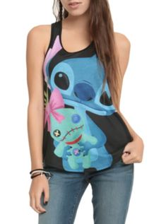 Hot Topic - Disney Lilo & Stitch Cuddly Stitch Girls Tank Top