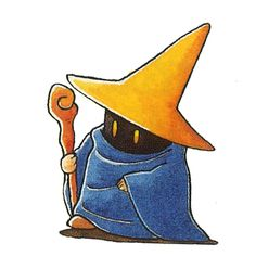 The Black Mage, from Final Fantasy IV.[The Video Game Art Archive][Support us on Patreon]