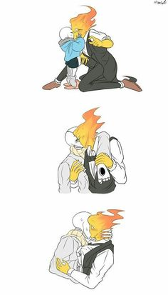 """After Gaster """"died"""" Grillby took care of Sans because Gaster was his best friend Undertale Gaster, Undertale Ships, Undertale Cute, Undertale Fanart, Frisk, Undertale Pictures, Undertale Drawings, Gay Comics, Yuri"""
