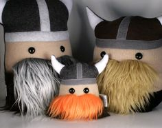 I hand and machine sewed this mini Magnus the viking plushie from anti-pill and blizzard fleece in tan, white and grays. Mini Magnus the Little Viking Warrior Plush Friend Viking Helmet, Viking Warrior, Fun Crafts For Kids, Diy For Kids, Vikings, Dragon Nursery, Viking Baby, Future Boy, Crafts