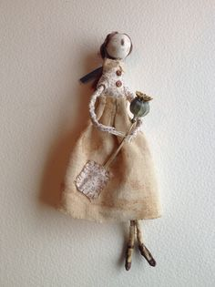 Hand dyed winter poppy fairy, Betty Bib