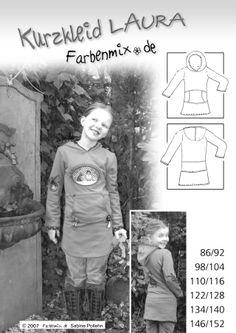 LAURA, Schnittmuster - farbenmix Online-Shop - Schnittmuster, Anleitungen zum Nähen