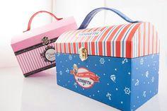 A fullcolor printed handmade treasure box. Perfect for kids birthday goodiebag!