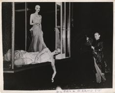 """by Weegee Bowery & Grand St, September 15, 1944 """"Here's what the wind did to glamorous models in the window of Edith and Billie Bridal Salon, 271 Grand St."""""""