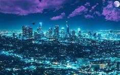 Download wallpapers Los Angeles, 4k, LA, skyscrapers, cityscape, metropolis, USA, night city