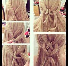 Halb-hochgestecktes Haar mit einem Knoten