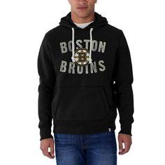 Boston Bruins '47 Cross-Check Logo Pullover Hoodie - Black - $69.99