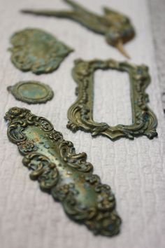 Turning findings into gorgeous shades of patina...DIY