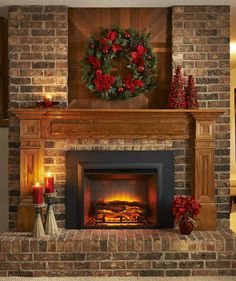 red brick fireplace wall color house home brick fireplace rh pinterest com