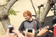 Ed Sheeran performing live at The Grove.