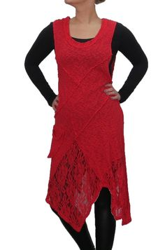 Summer Dress From Sarah Santos Dress With Lace Also For Snug Layered Look Red