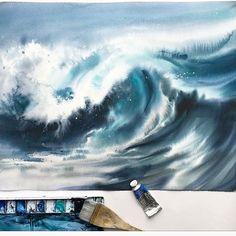 Друзья, ещё есть места на завтрашний демонстрационный МК с Натальей Дюковой @nataliadyukova , с 19 до 22 Наташа будет делиться секретами написания моря акварелью запись на МК 1660099@gmail.com стоимость 1000 руб, все собранные средства идут в помощь детям! #художники_помогают_детям