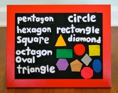 Shapes for preschool felt or flannel story board by CakeInTheMorn, $10.00
