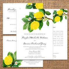 Wedding Invitation Lemon wedding invitation di starboardpress