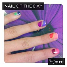 Julep's rubber band nail art tutorial. Looks easy enough that even I could do it!