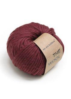 100% wool yarn ball