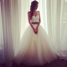 Princess tulle wedding dress