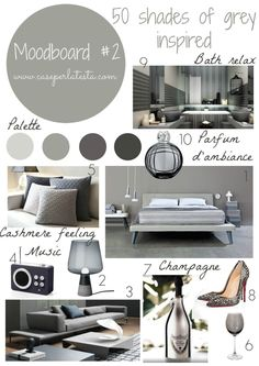 #50shadesofgray #moodboard #tutorials: how to easy make moodboard