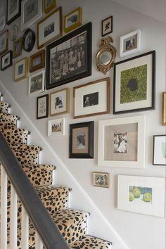 Mélange de photos pour la déco des escaliers
