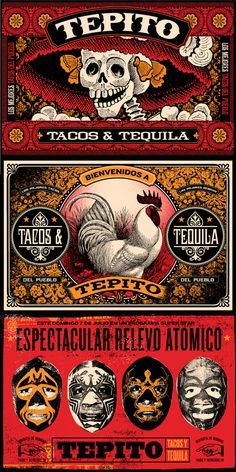Tepito Tacos y tequila - by poison graphic design